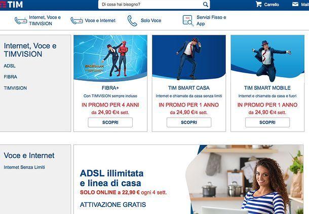 Offerte Telecom solo ADSL