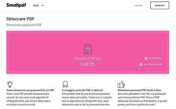 Come togliere protezione PDF