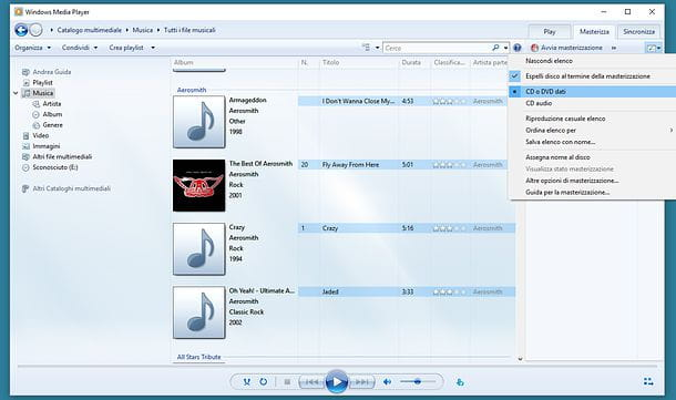 Come duplicare un CD con Windows Media Player