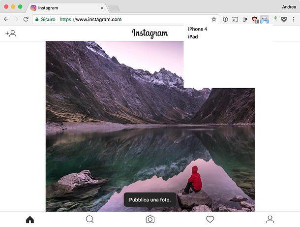 Come usare Instagram sul PC
