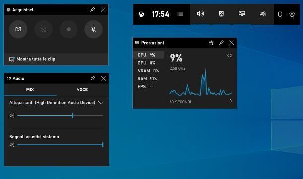 Come registrare un video dal PC Windows 10 con applicazione Xbox