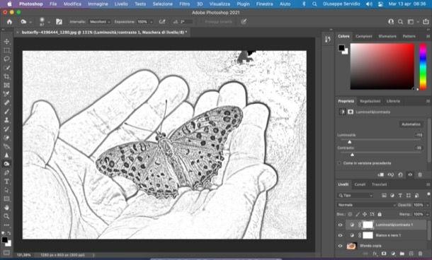 Effetto disegno a matita di Photoshop