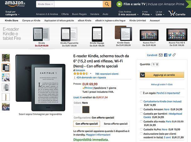Quale Kindle scegliere