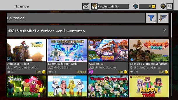La fenice leggendaria Mod Minecraft Xbox