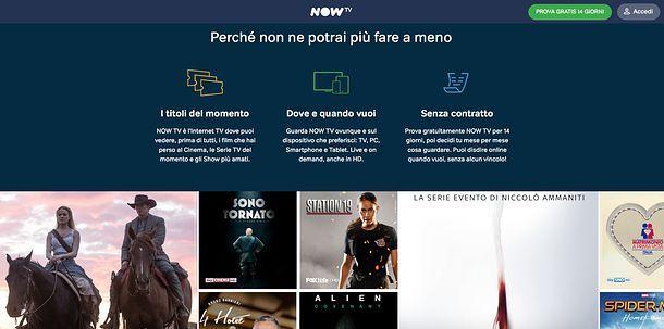 Pacchetti NOW TV