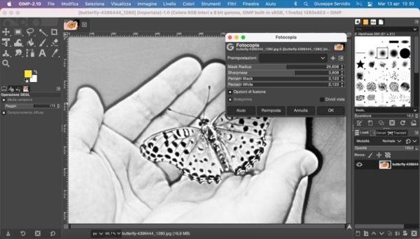 Effetto disegno a matita GIMP