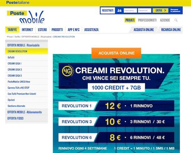 PosteMobile Creami Revolution: cos'è e come funziona