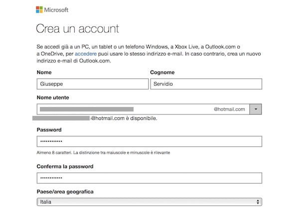 Come accedere a Hotmail