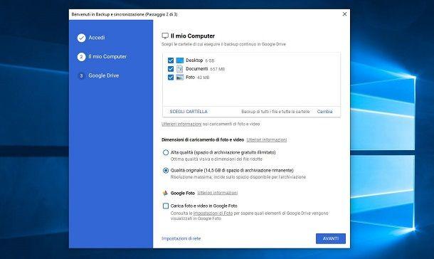 Google Foto su PC