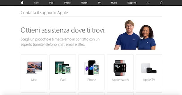 Come contattare Apple