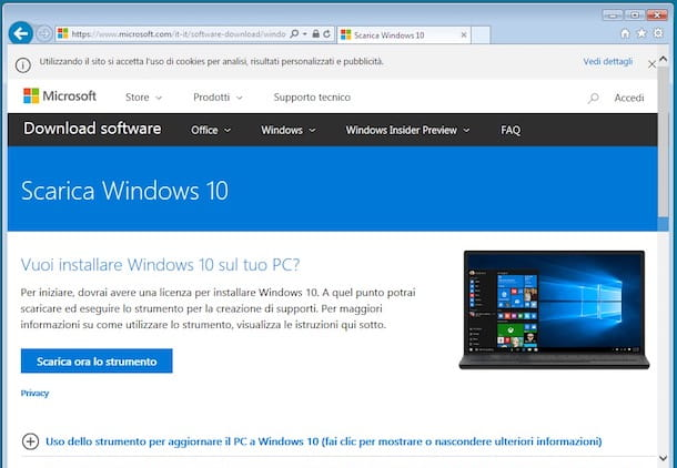 Come aggiornare Windows 7 a Windows 10