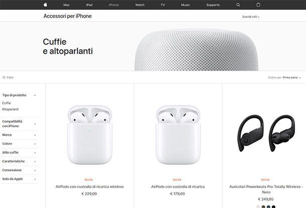 Cuffie Apple