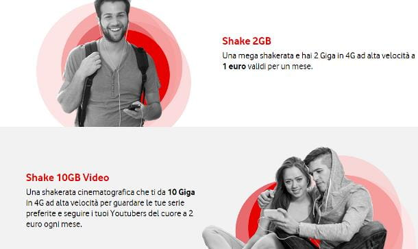 Come aggiungere Giga Vodafone Shake
