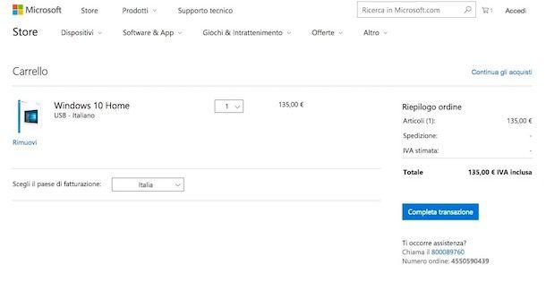 Come acquistare Windows 10
