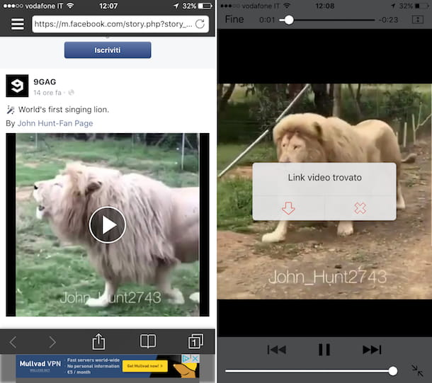 Come scaricare video da Facebook su iPhone