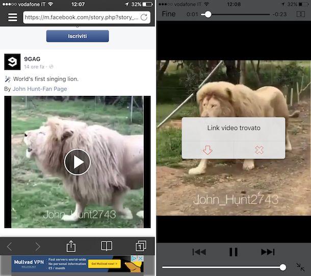 Come scaricare video da Facebook su iPhone