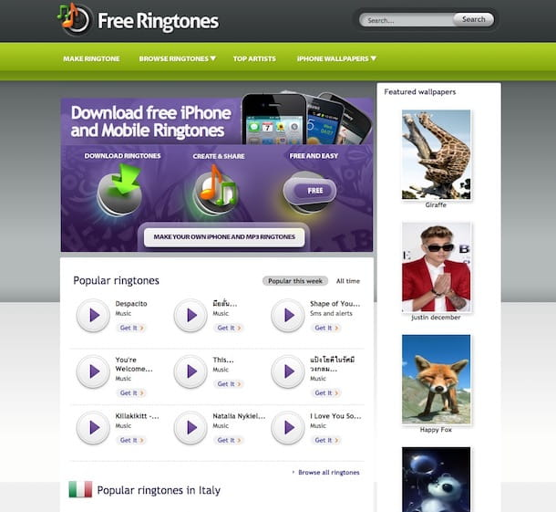 Come scaricare suonerie gratis MP3