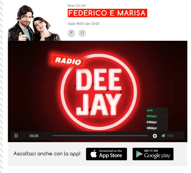 LE PUNTATE DI RADIO DEEJAY SCARICARE