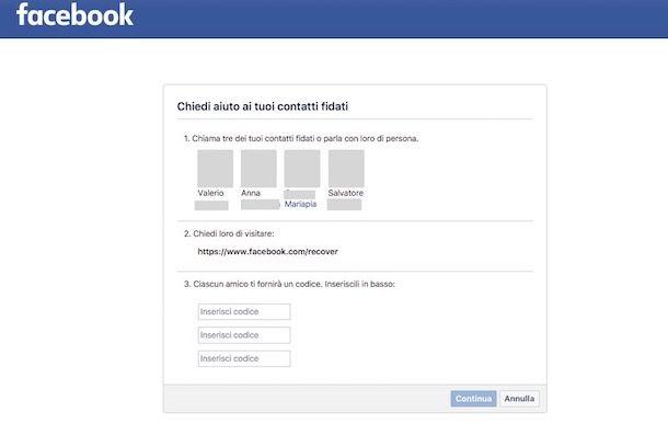 Come recuperare l'email di Facebook