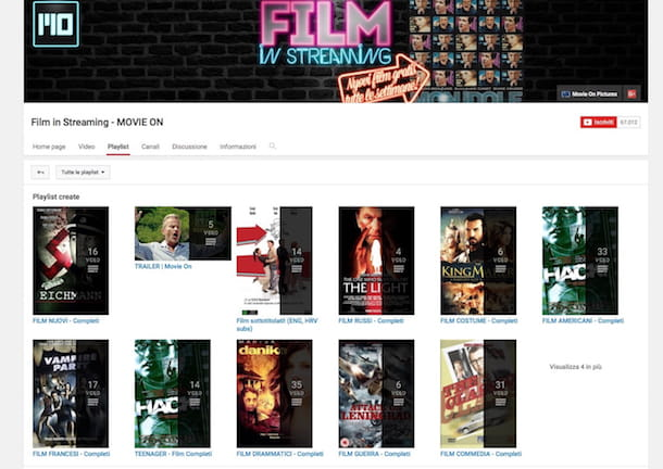 Come guardare film su YouTube