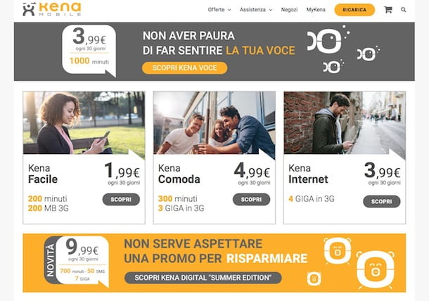 Kena Mobile: copertura e offerte tariffe