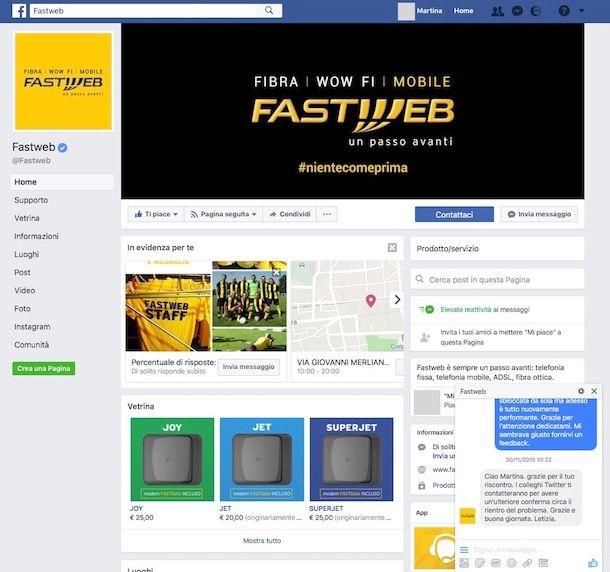 Come contattare Fastweb