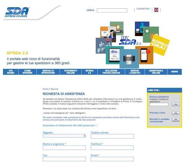 Come tracciare pacco SDA