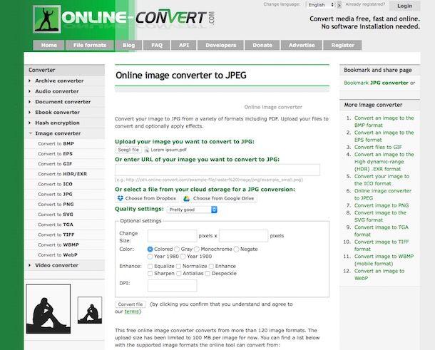 Come convertire PDF/A