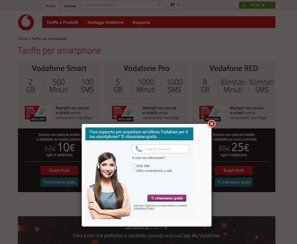 Come passare a Vodafone con operatore