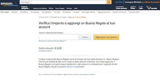 Come convertire buoni Amazon