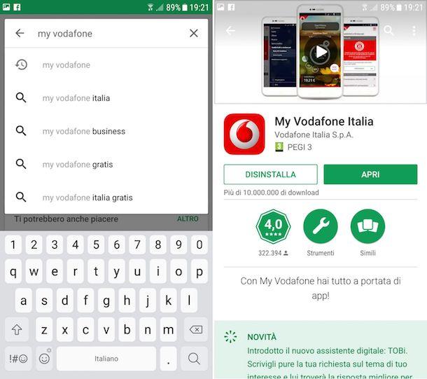 Come scaricare My Vodafone