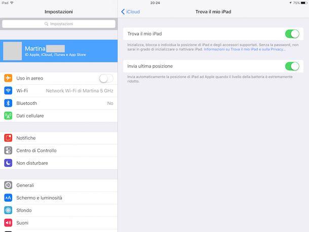Come trovare il mio iPad