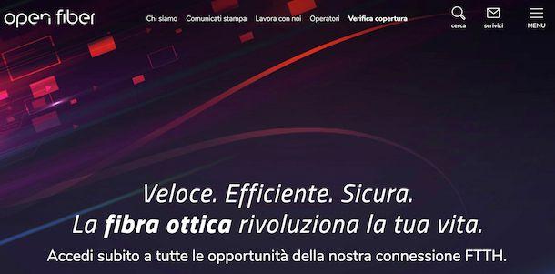 Sito Open Fiber