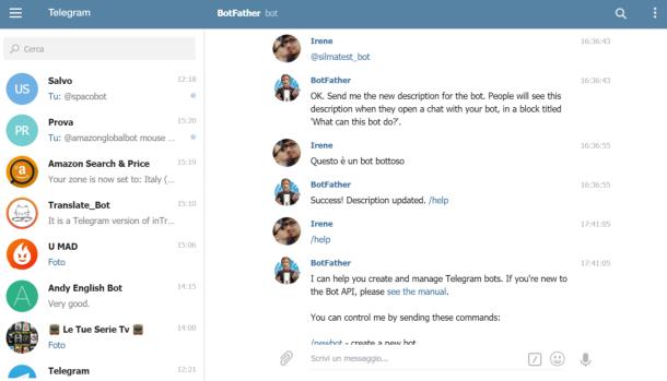 Come chattare con i bot su Telegram