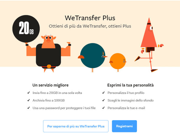 wetransfer come si