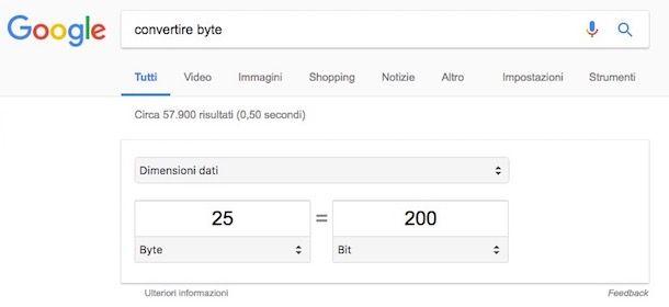 Come convertire byte