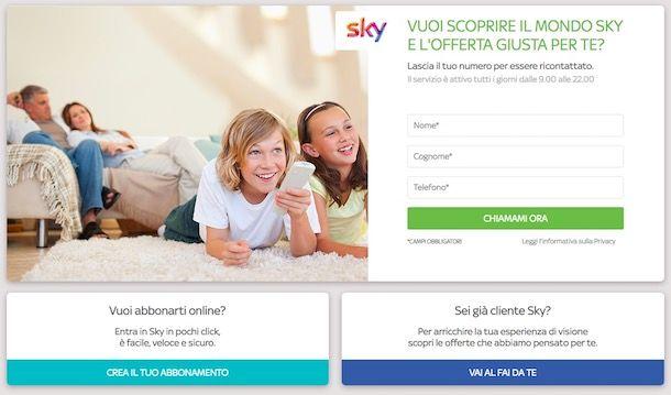 Come contattare Sky