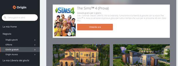 e installare the sims 4 senza origin