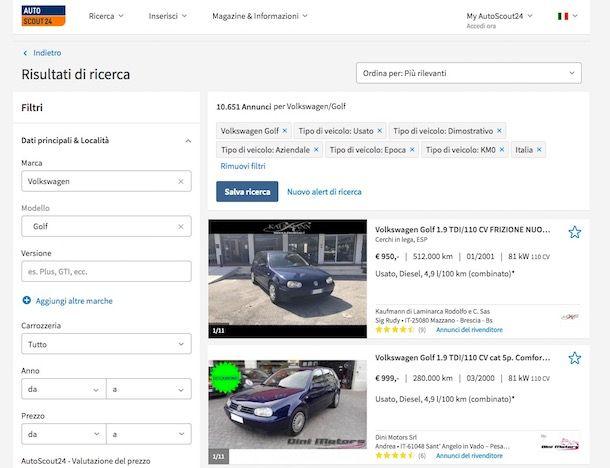 Migliori siti auto usate