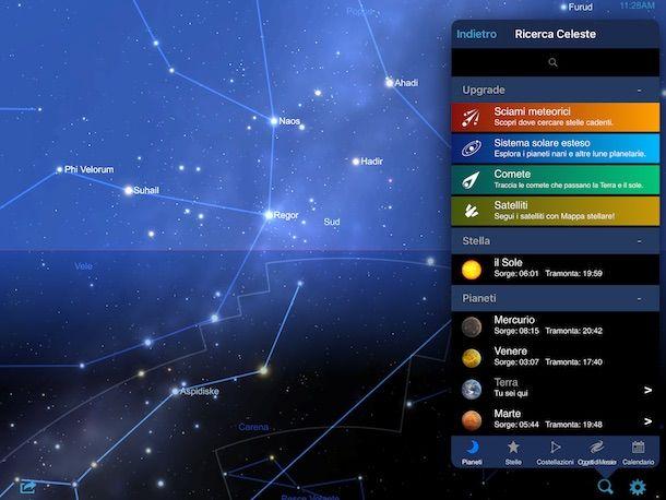 Applicazioni per guardare le stelle