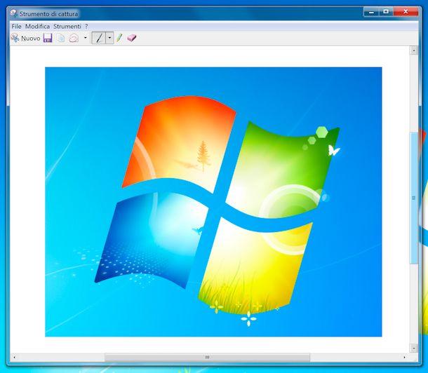 Strumento di cattura Windows 7