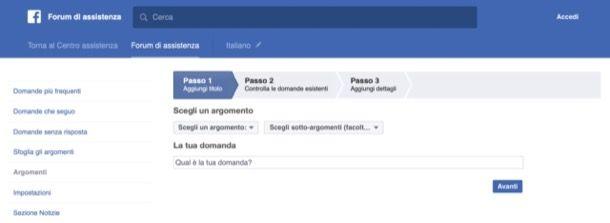 Forum di Facebook