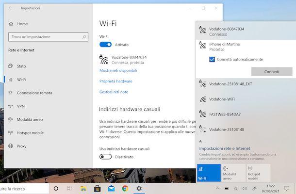 Hotspot iPhone Windows Wi-Fi