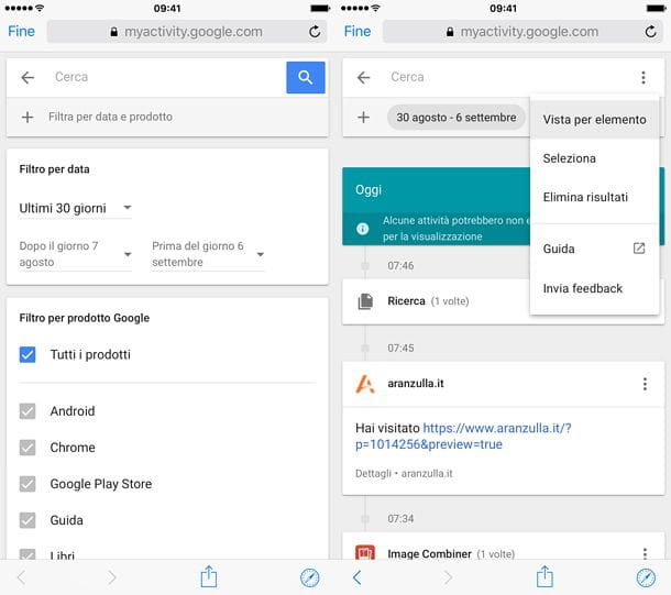 Come cancellare i siti visitati su Google