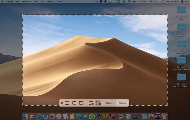 Registrare schermo Mac