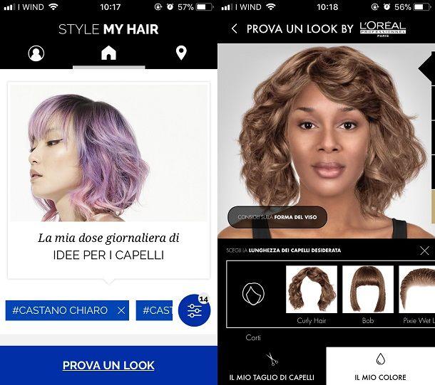 App per cambiare taglio e colore capelli