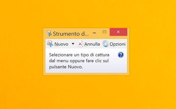 Strumento di cattura Windows 8