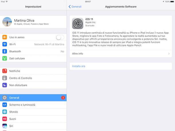 Come scaricare ed installare iOS 11