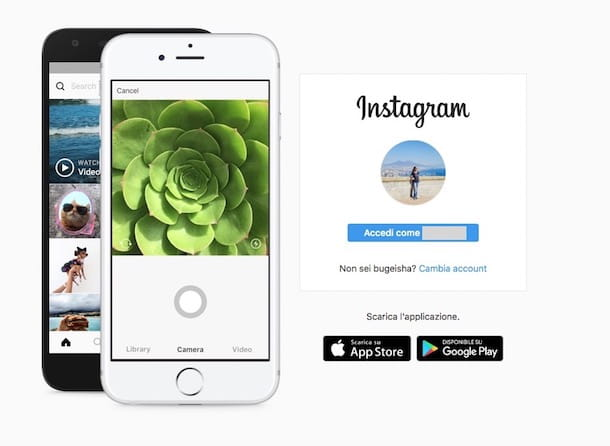 Come accedere a Instagram senza password