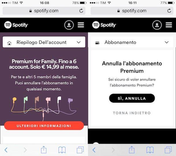avere spotify premium gratis ios